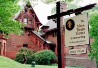 The Mark Twain House & museum signpost