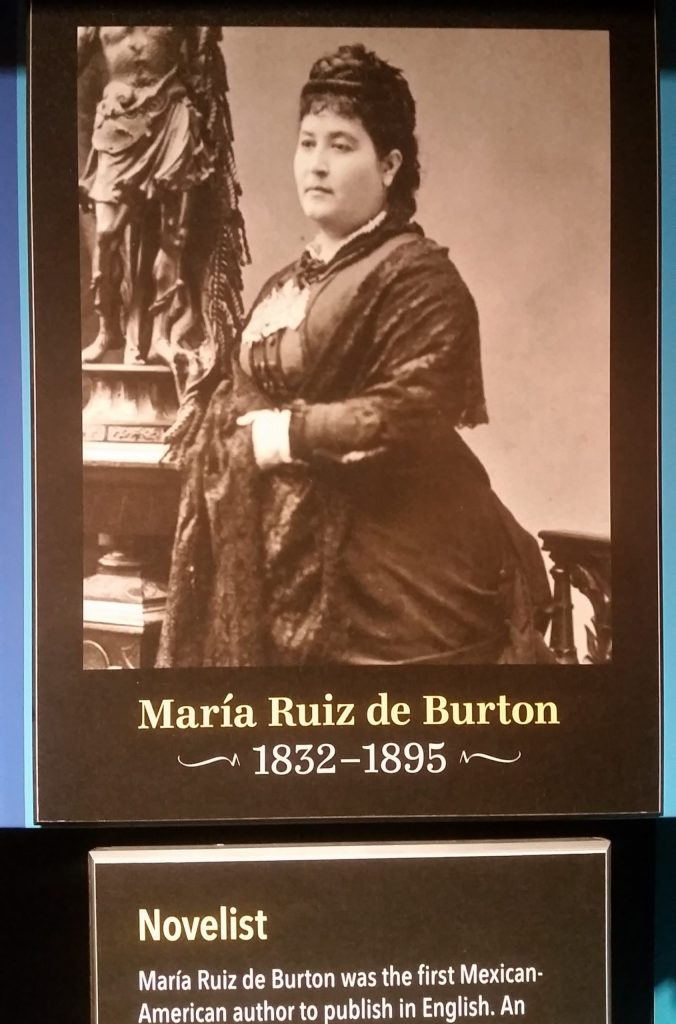 Maria Ruiz de Burton in A Nation of Writers timeline at the American Writers Museum in Chicago