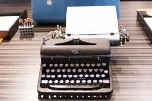 A Royal typewriter at the American Writers Museum