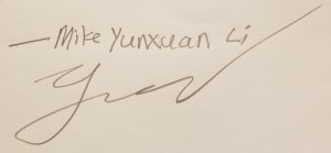 Mike Yunxuan Li signature