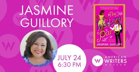Jasmine Guillory presents her new romance novel The Wedding Party at the American Writers Museum in Chicago on July 24