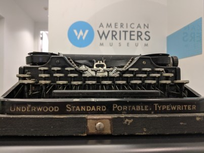 Ernest Hemingway's typewriter is on display at the American Writers Museum in Chicago as part of their Tools of the Trade exhibit.