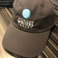 A dark gray American Writers Museum branded baseball cap