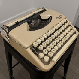 Mae West's typewriter is now on display at the American Writers Museum in Chicago.