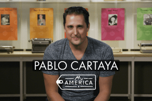 Pablo Cartaya featured in the American Writers Museum's new exhibit My America