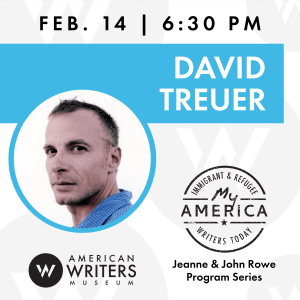 David Treuer book reading and signing at the American Writers Museum on February 14