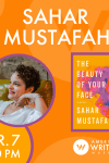 Sahar Mustafah book reading and signing at the American Writers Museum on April 7 at 6:30