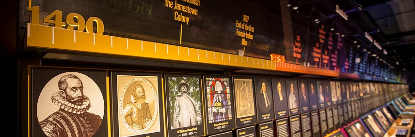 The American Voice timeline at the American Writers Museum in Chicago, IL
