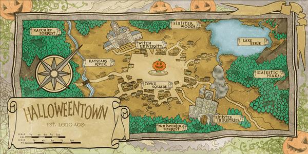 Map of Halloweentown
