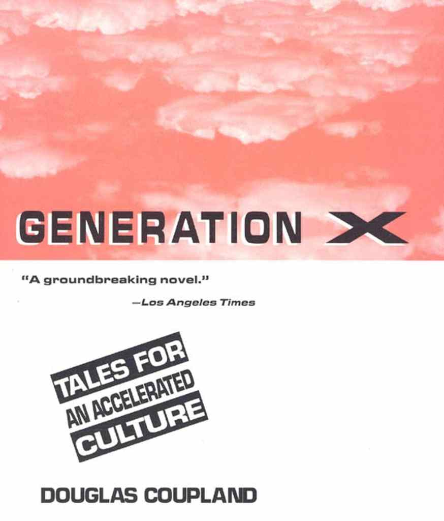 Generation X: Tales for an Accelerated Culture by Douglas Coupland book cover