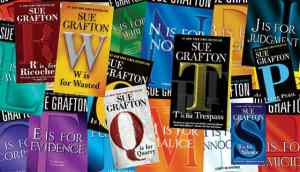 Collage of Sue Grafton book covers