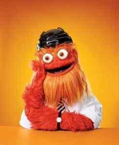 Photo of Gritty, Philadelphia Flyers mascot