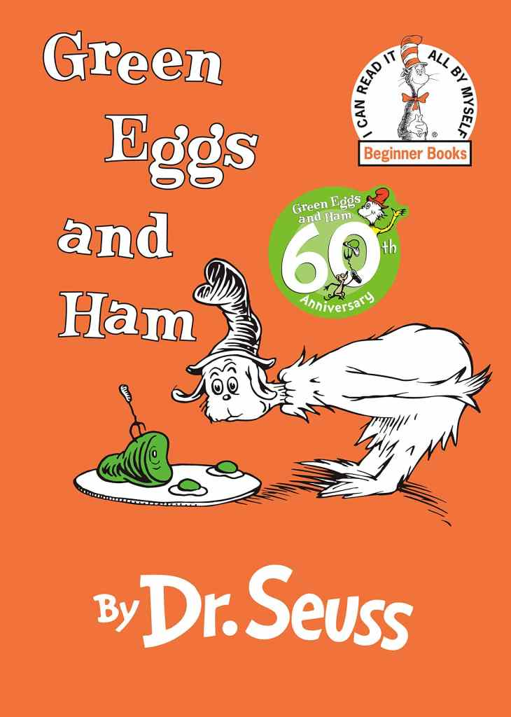 Green Eggs and Ham book cover by Dr. Seuss
