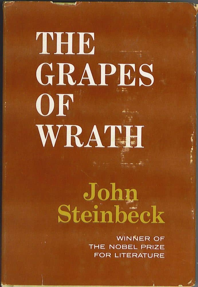 The Grapes of Wrath by John Steinbeck book cover