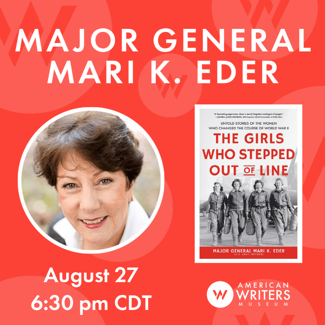 Photo of Mari K. Eder and book cover of The Girls Who Stepped Out of Line