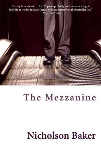 The Mezzanine by Nicholson Baker book cover