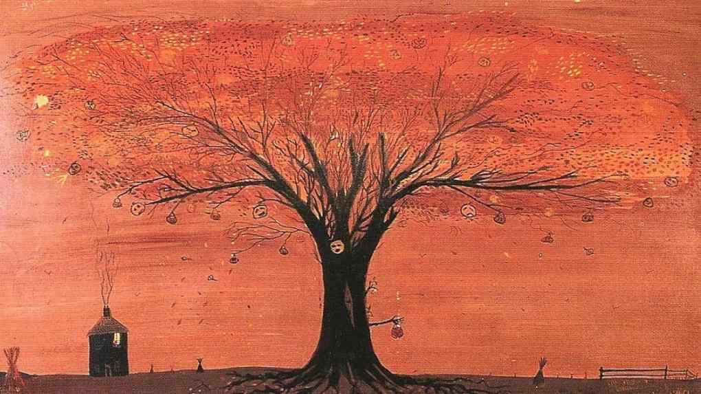 A painting of the Halloween Tree by Ray Bradbury