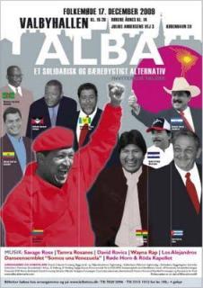 Plaket for folkemøde med ALBA lederne