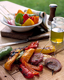 Martha Stewart's Grilled Mixed Peppers and Onions