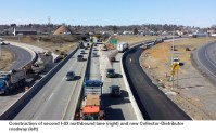 I-83 under construction at the PA 581 interchange