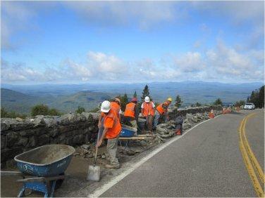 WMVMH_wall repair underway