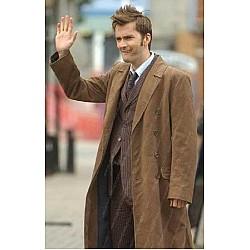 10th Doctor Who David Tennant Brown Coat