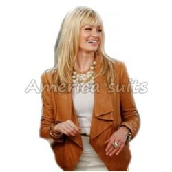 2 Broke Girls Caroline Channing Brown Leather Jacket