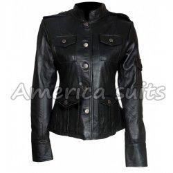 Anne Hathaway Black Leather Jacket get Smart Jacket