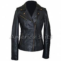 Asymmetrical Women Motorcycle Jacket