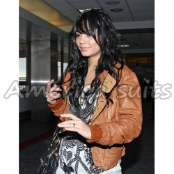 Vanessa Hudgens Celebrity Leather Jacket At Discounted Price