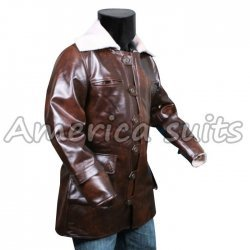 Bane Coat The Dark Knight Rises Swedish Bomber Leather Jacket