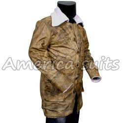 The Dark knight Rises Bane Long Leather Coat