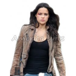 Fast And Furious 7 Michelle Rodriguez Leather Jacket