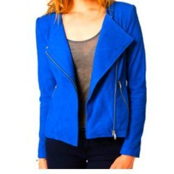 Anastasia Steele Fifty Shades Of Grey Blue Leather Jacket