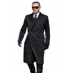 James Bond Spectre Navy Blue Great coat