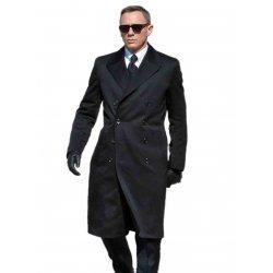 James Bond Spectre Navy Blue Great coat