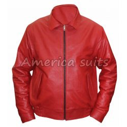 James Dean rebel Without A Cause Red Leather Jacket