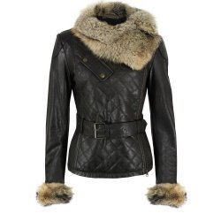 Luxury Soft Lamb Quilted Raccoon Fur Collar