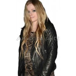 Avril Levigne Celebrity Leather Jacket