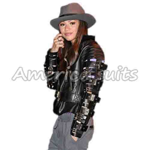 Zendaya Dancing With The Stars celebrity leather jacket