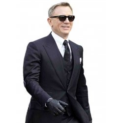 Spectre Navy Herringbone Three Piece Suit