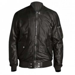 Vin Diesel Black Leather Bomber Jacket