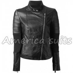 Womens Quilted Biker Jacket