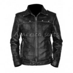 Aaron Paul A Long Way Down Leather Jacket