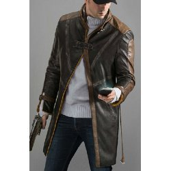 Aiden Pearce watch dog Leather Jacket
