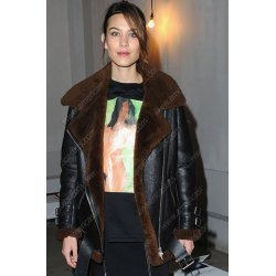 Alexa Chung Winter Shearling Jacket