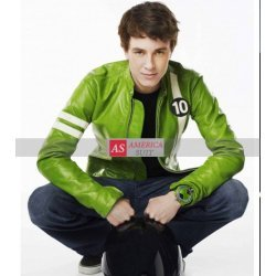 Alien Swarm Green Leather Ben 10 Jacket