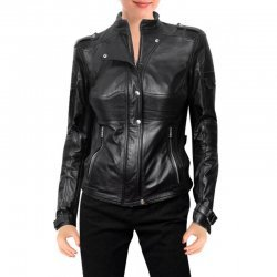 Amanda Tapping Sanctuary Black Leather Jacket