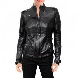 Amanda Tapping Sanctuary Black Leather Jacket