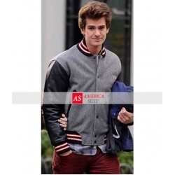 Andrew Garfield Wool Varsity Jacket